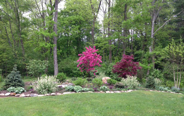 Landscaping Backyard With Woods : Landscaping and garden design in the berkshires karen shreefter